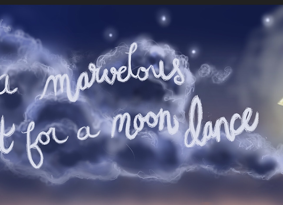 Marvelous Night For a MoonDance Print on Wood
