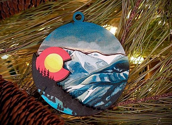 WS Snowy Colorado 3D Ornament or Magnet