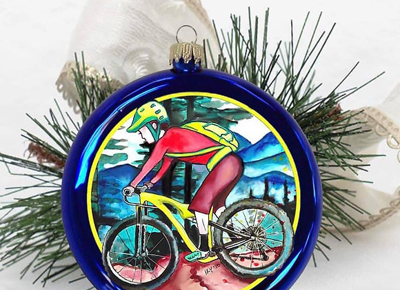 Mountain Biker Disc Ornament