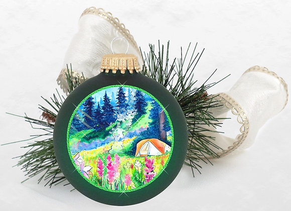 Tent Camping Ornament Green