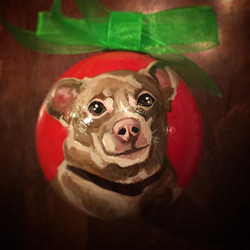 There is still time to place your order for a hand painted Christmas ornament! #chihuahuasofinstagra