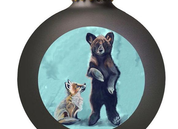 Fox and Bear Ornament