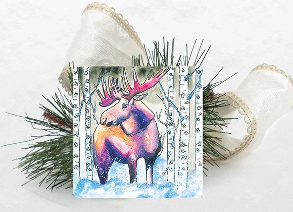 Moose Travertine Coaster