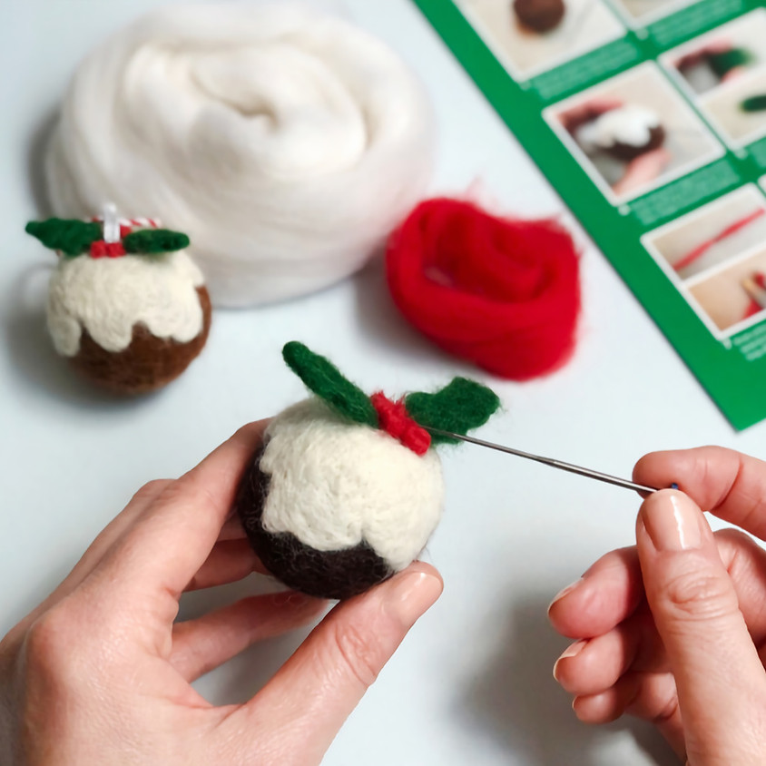 Ashlyns School Needle-Felted Pudding Workshop