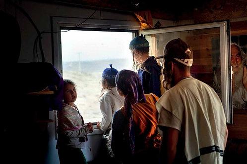 La famiglia Goldburt alla finestra