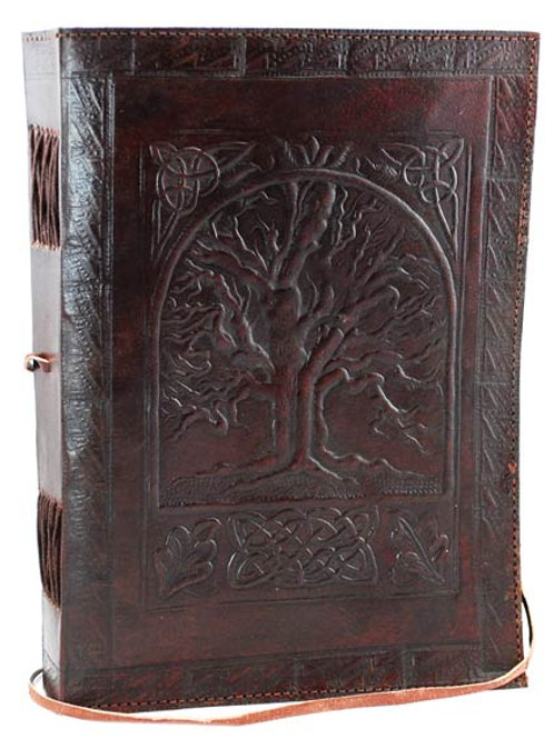 Tree of Life leather blank book w/ cord