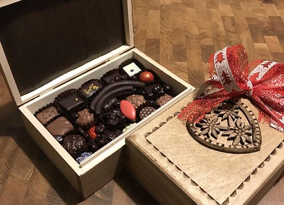 Boîte à sucre en bois - 400g chocolat