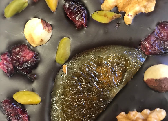 Tablette chocolat Noir/Multi-fruits