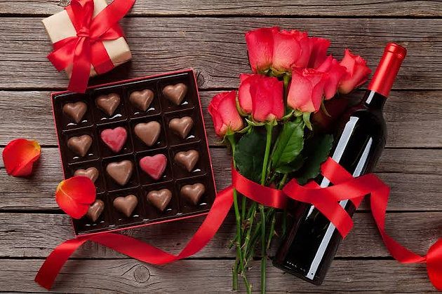 CHOCOLATE ROSAS E VINHO