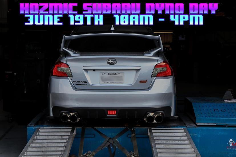 June 19th, 2021 Subaru Dyno Day - Dyno Pass