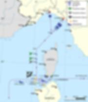 Affondamento_corazzata_Roma_1943-9-9_map