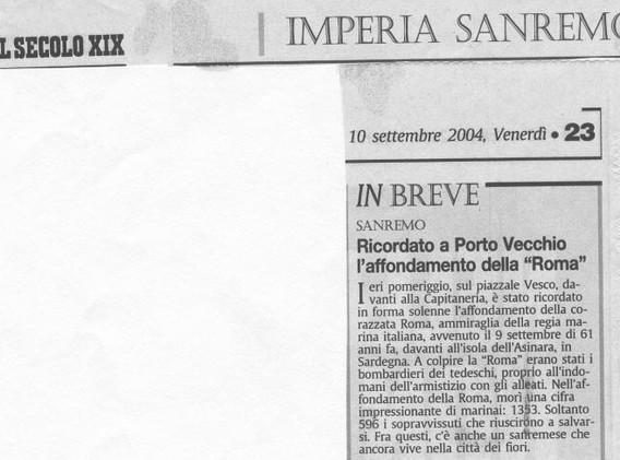 Il Secolo XIX, 10.9.04.jpg