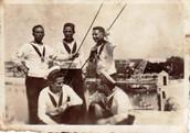 Foto di gruppo a bordo della R.N.Roma.JP