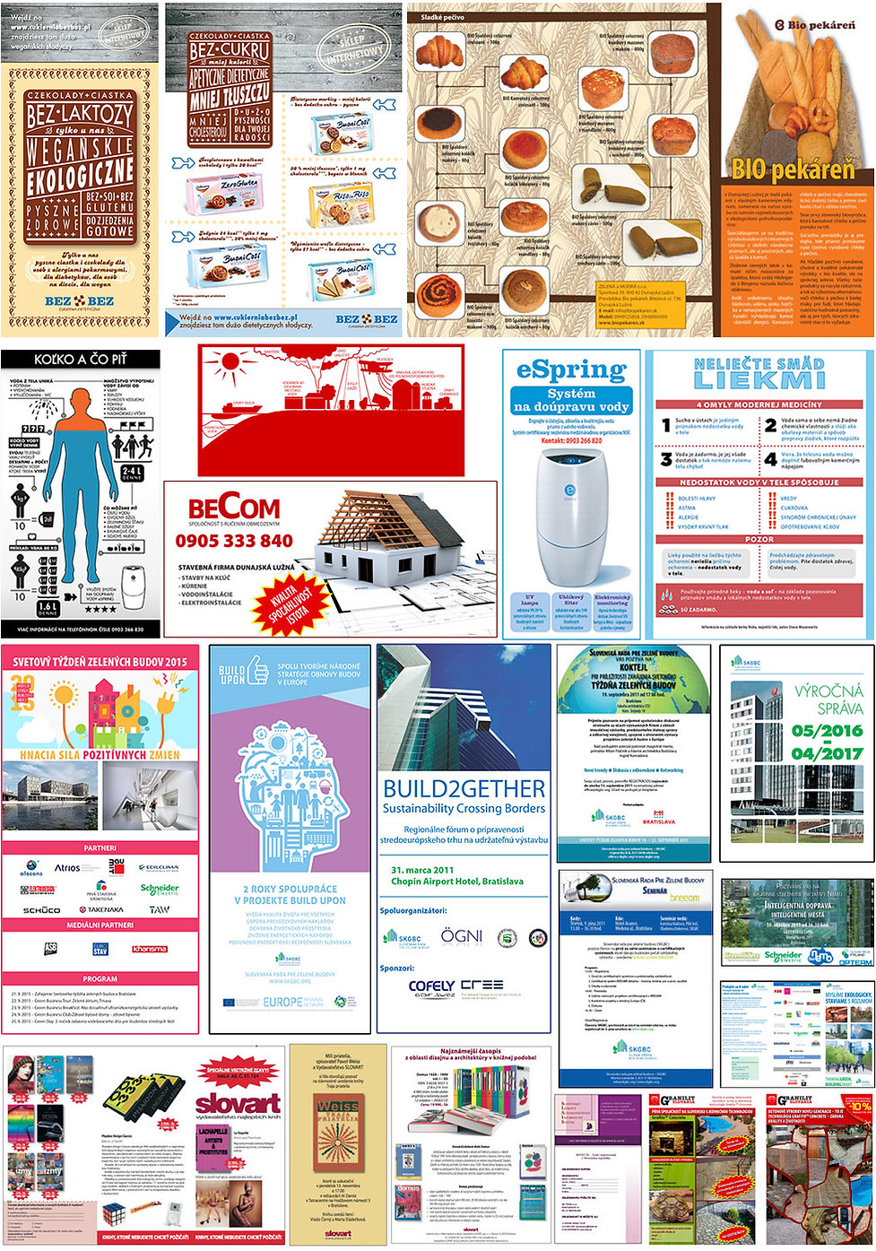 Advertisement and marketing materials, posters, booklets