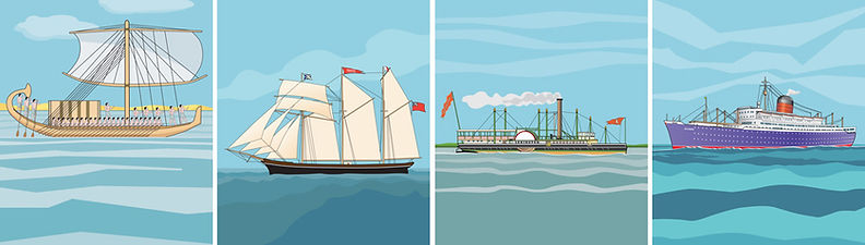 Schooner ship steamer
