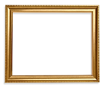 Gold frame square