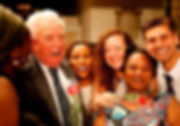 Lord Robers with the Citizens of the World refugee choir