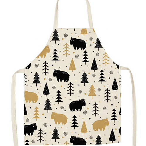 Bears In The Forest Apron