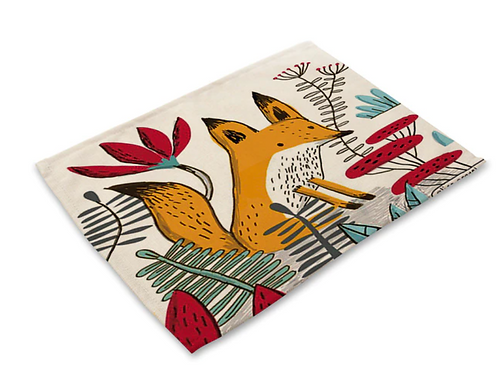 Nordic Gingerbread Fox Placemat
