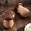 Thumbnail: Wooden Mushroom Toothpick Holder