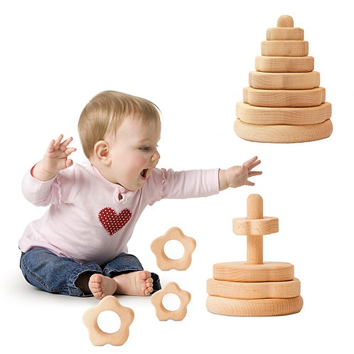 Nordic Wooden Stacking Toy