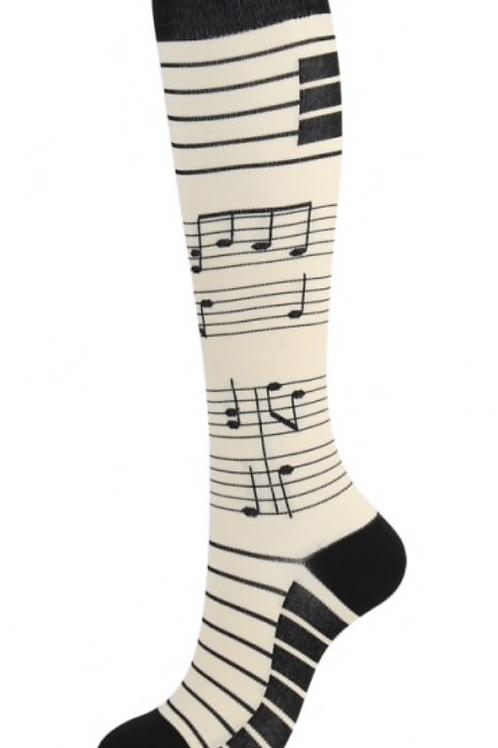 Musical Long Compression Socks