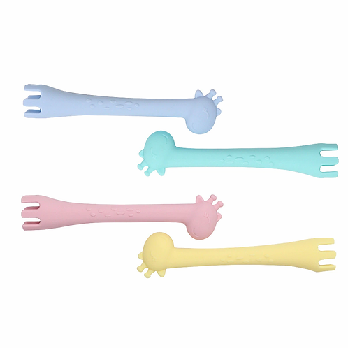 Ole and Lena Fork Spoon - BPA Free Silicone