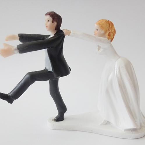 Get Away Groom Wedding Cake Topper