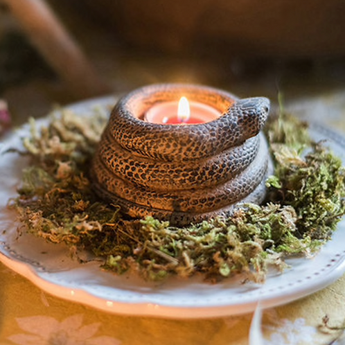 Norse Serpent Candle Holder