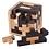 Thumbnail: Swedish Travel Size Tetris Wooden 3D Puzzle Cube