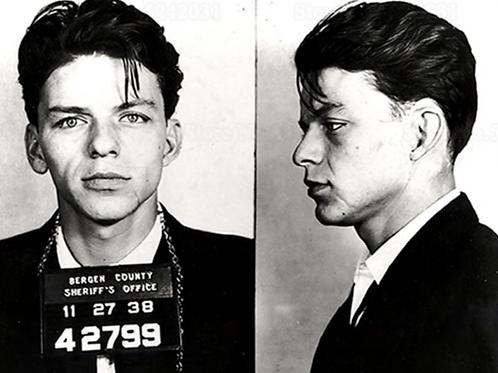 Frank Sinatra Mugshot Poster on Canvas