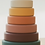 Thumbnail: Earth Tones Silicone Stacking Tower - 6 Pieces