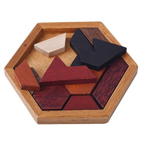 Nordic Hexagonal  Wooden  IQ Puzzle