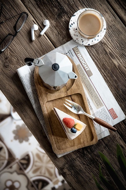 Coffee and Cake Wooden Tray