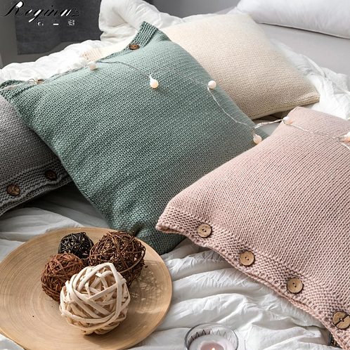 Nordic Hand Knit Pillow Covers