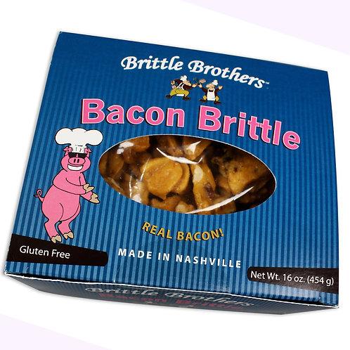 Gourmet Bacon Peanut Brittle - 1 Pound Box