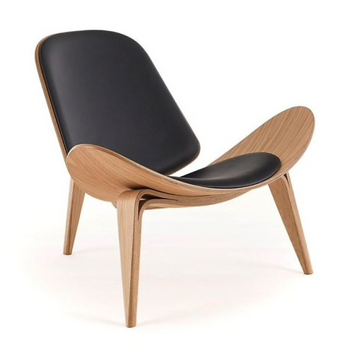 Danish Style Tripod Plywood Lounge Chair