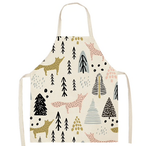 Frolicking  Foxes and Trees Apron