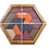 Thumbnail: Nordic Hexagonal  Wooden  IQ Puzzle