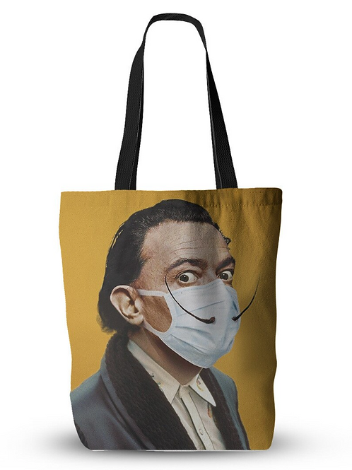 Masked Famous Artist Canvas Tote Bag