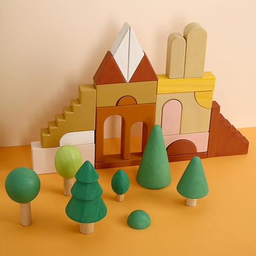 Nordic Forest Wooden Blocks  - 28 Piece Set