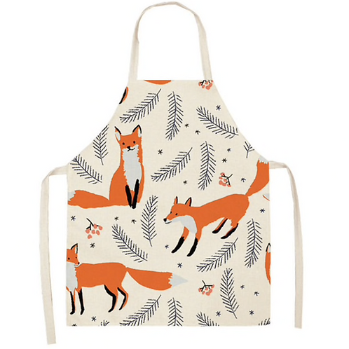 Gingerbread Foxes and Leaves Apron