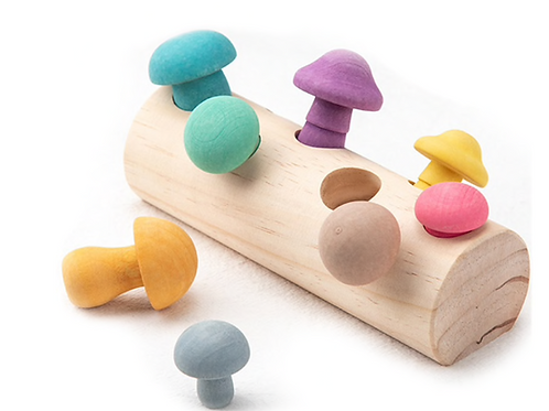 Nordic Mushrooms Developmental Sorting Toy