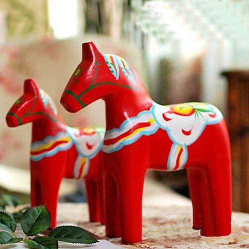 Swedish Dala Horse Pair