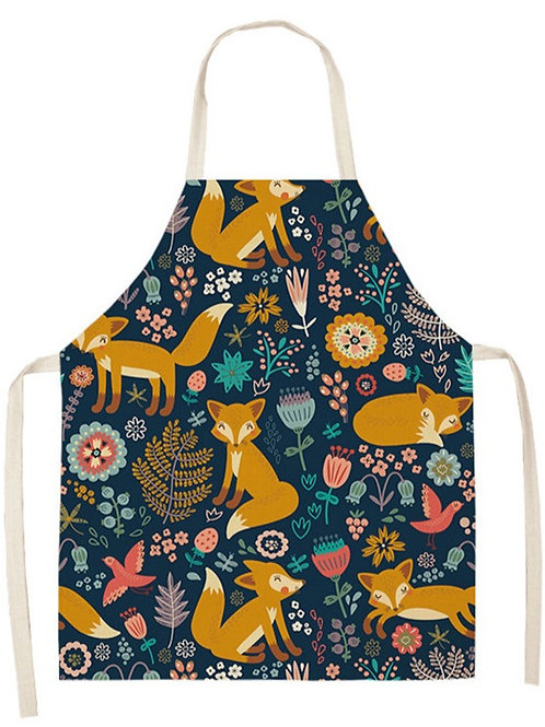 Foxes and Flowers Apron