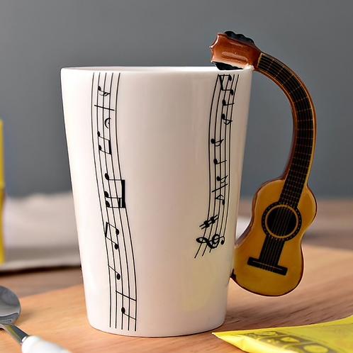 Guitar Handle Coffee Mug