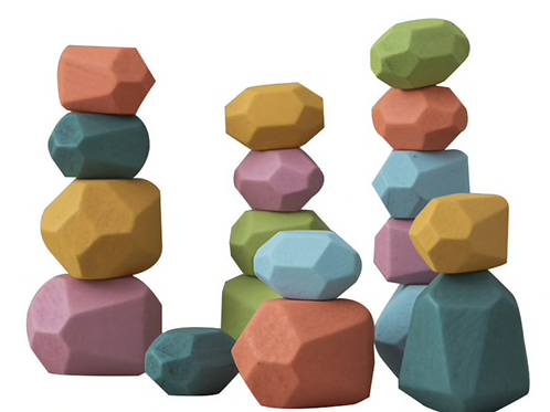 Norse Colorful Wooden Balancing Stones
