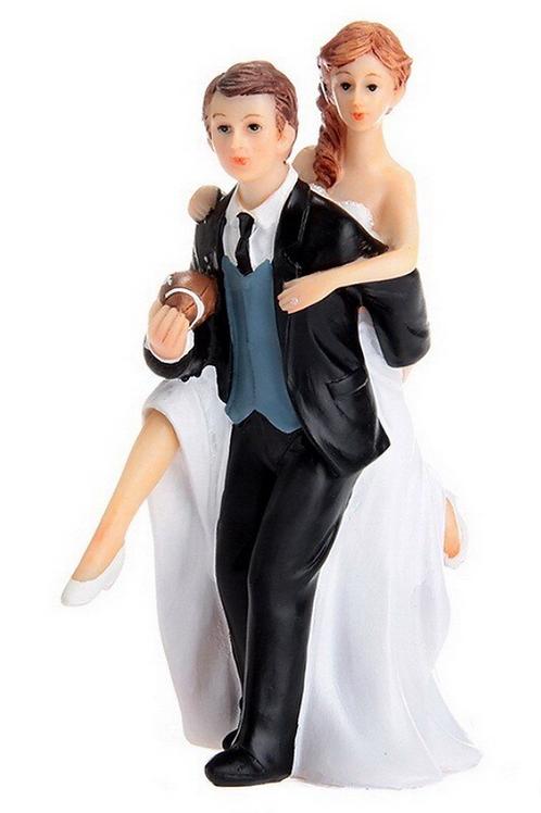 Football Widow Wedding Cake Topper