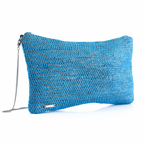 Sustainable Handloom Mini Bag Blue