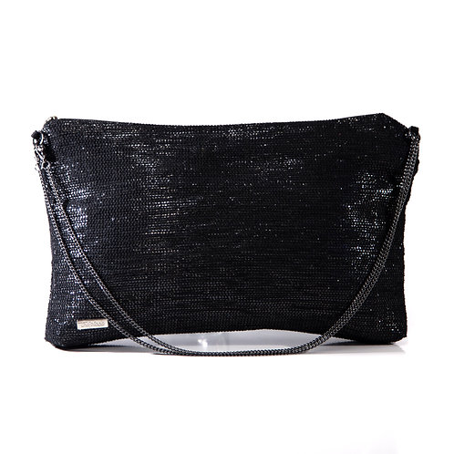Sustainable Handloom Mini Bag Black